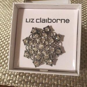 Liz Claiborne snowflake pin